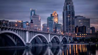Skyscrapers and a bridge