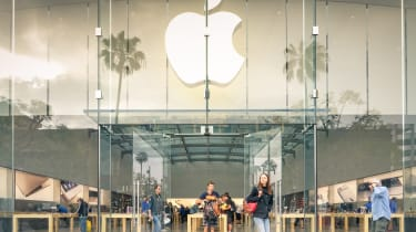 Los Angeles - United States - March 19, 2015: Apple store on 3rd Street Promenade in Santa Monica CA United States. The retail chain owned and operated by Apple Inc is dealing with computers