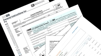 picture of 2020 tax forms