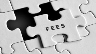 """picture of puzzle piece with """"fees"""" written on it"""