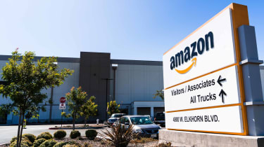 An Amazon shipping facility