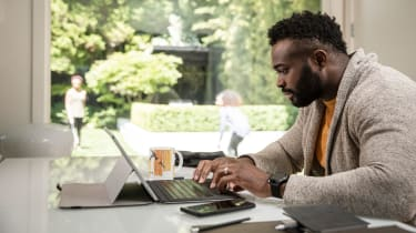 picture of man working from home