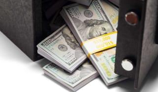 Open Safe Full of United States Money.