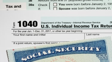 picture of tax form and Social Security card