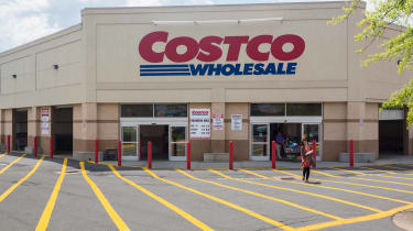 Exterior of a Costco warehouse in daylight