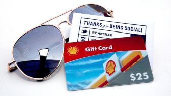 A view of Chrysler gas gift cards for guests, during the 2016 Vanity Fair Social Club #VFSC for Oscar Week at PLATFORM on February 25, 2016 in Culver City, California