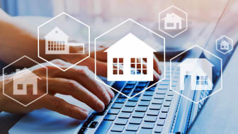 man looking at real estate online