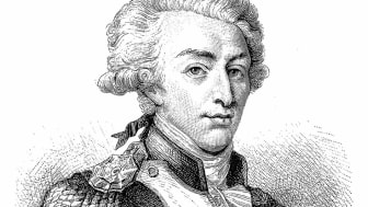 Illustration of a Marie-Joseph Paul Yves Roch Gilbert du Motier, Marquis de Lafayette 6 September 1757 – 20 May 1834), often known simply as Lafayette, French aristocrat and military officer