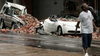 Photo of hurricane damage