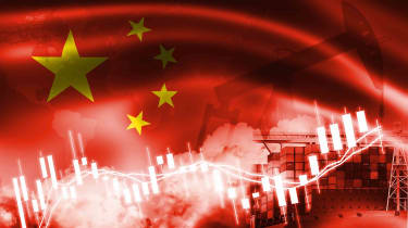 concept art of China influencing the stock market