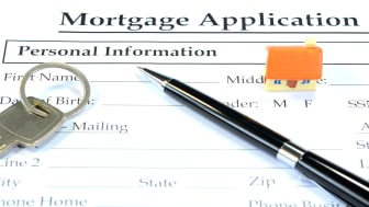 picture of a mortgage application form
