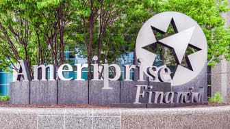Minneapolis, United States - May 27 2016:Ameriprise Financial Services headquarters and logo. Ameriprise Financial, Inc. is an American diversified financial services company.