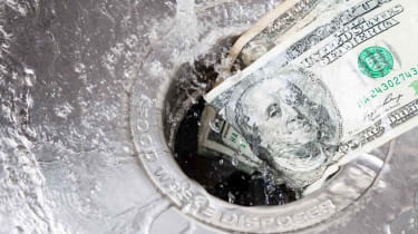 money down the drain photo