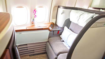 luxury plane seat with pillow