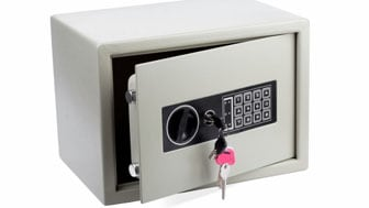 Electronic home safe(clipping path included)