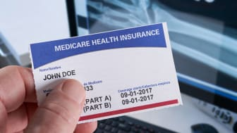 A social security and medicare card