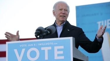 picture of Joe Biden at Atlanta rally