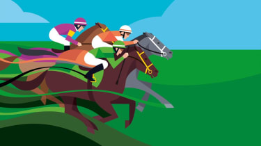 illustration of horse race