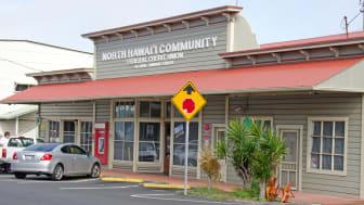 Honokaa, United States - February 15, 2012:This restored North Hawai'iCommunity Credit Union building is on the main street in Honokaa. As the gateway to the H?m?kua Coast, Honokaa provides t
