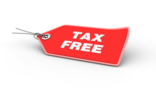 picture of tag saying tax free