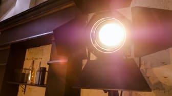 Bright light bulb.