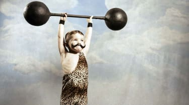 A young dead lifter has mastered gravity. You never know how far you can go until you try.