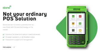 A screenshot of StoneCo's website