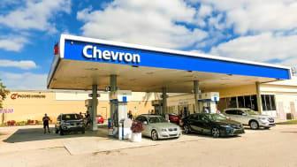 A Chevron gas station