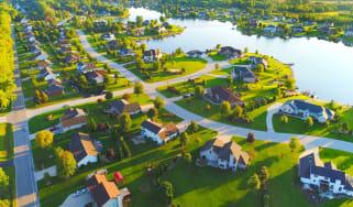 rich neighborhood from air