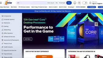 Screenshot of Newegg.com home page