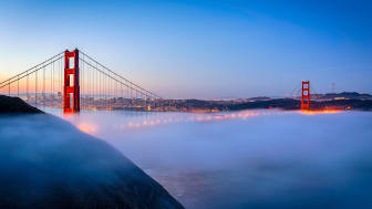picture of Golden Gate bridge in the fog