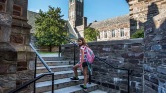 picture of young girl on private school campus