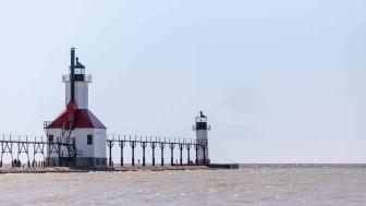 North Pier lighthouse in St. Joseph, Michigan