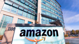 Amazon sign outside HQ