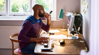 picture of man working at home