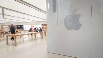 NEW YORK, NEW YORK - MARCH 16: The Apple Store inside the Oculus transit hub in lower Manhattan is closed as much of the nation slows due to the continued spreading of the coronavirus on Marc