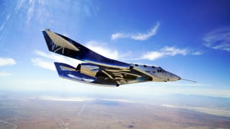 Virgin Galactic craft in the air