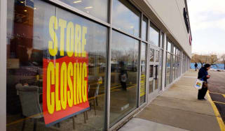 CHICAGO, ILLINOIS - FEBRUARY 18: Store closing signs hang in the window of a Pier 1 imports store on February 18, 2020 in Chicago, Illinois. The struggling retailer announced today that it ha