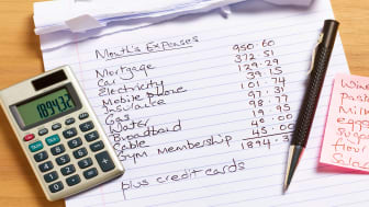 picture of monthly bills list