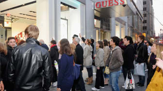 NEW YORK, NY - APRIL 20:Atmosphere at the grand opening of the new 5th avenue Flagship store with live performance byJESSIE J. celebrated by GUESS and Vanity Fair at Guess 5th Avenue Flagship