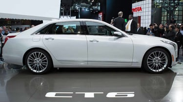 NEW YORK, NY - APRIL 1:Cadillac introduces the new CT6 at the New York International Auto Show at the Javits Center on April 1, 2015 in New York City. The auto show opens to the public April