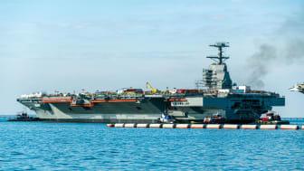 The aircraft carrier USS John F. Kennedy