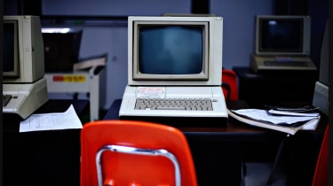 A 1980s PC in a classroom