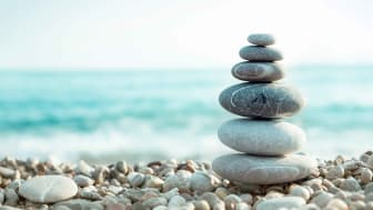 Several stones carefully balanced on top of one another