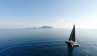 sailing in the ocean