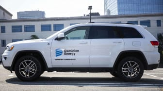 A Dominion Energy vehicle