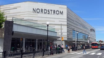 Ottawa, Canada - June 20, 2015:People convene around the new Nordstrom store that opened in Ottawa on March 3, 2015.The American upscale fashion retailer has begun to expand into Canada.