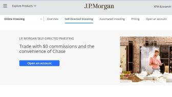 Screenshot of J.P. Morgan home page
