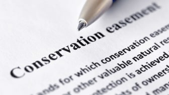 picture of a conservation easement document