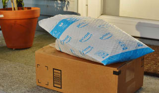 Amazon Packages on a front porch